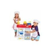 Cozinha Infantil Completa Master Chef Kids Com Fogão Avental Panela E Acessórios