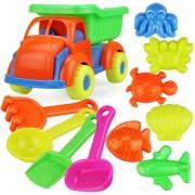 11Pcs Juguete De Vehículo De Playa 360DSC - Multicolor