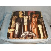 Raising Cane Carved Heads Walking Canes 550 piece puzzle