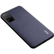 MoFi Litchi PU Leather Case Samsung Galaxy S20 Ultra 5G, kék