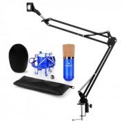 Auna CM001BG set de micrófono V3 micrófono condensador brazo de micrófono azul (60002008-V3)