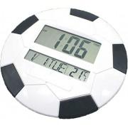 Ceas LCD decorativ fotbal cu calendar, termometru si alarma