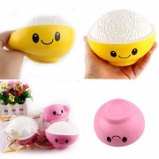SanQi Elan Squishy Rice Bowl Jumbo 12cm Slow Rising With Packaging Collection Gift Decor Toy