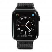 Apple Watch Series 4 - caja de acero inoxidable en negro 44mm - pulsera Milanese negra (GPS+Cellular) new
