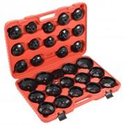 vidaXL 30 Piece Oil Filter Wrench Kit