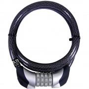 Kabelski lokot sa kodom za bicikl Security Plus ZL 72, crne boje, oprema za bicikl ZL72