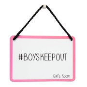 hang-ups! - tinnen bordje - boyskeepout girl's room