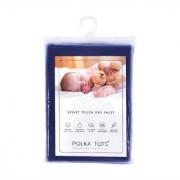 Polka Tots Dark Blue New Born Baby Mat Bed Protector Waterproof Sheet Reusable Absorbent Dry Sheet Large (Pack of 1)