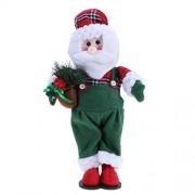 Whitelotous Christmas Home Decoration Xmas Standing Doll Santa Toys for Kids Ornament