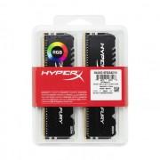 DDR4, KIT 16GB, 2x8GB, 2666MHz, KINGSTON HyperX Fury RGB, CL16 (HX426C16FB3AK2/16)