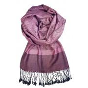 Venezia kašmírový šál - pašmína fialová