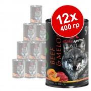 Бонус опаковка - Alpha Spirit 12 x 400 г - говеждо с пъпеш