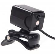 USB 2.0 HD Webcam / Cámara Para Internet De Alta Definición De 12 Megapixel Con Micrófono Y LED De Visión Nocturna. Clip-on .360 Grados. (Negro)