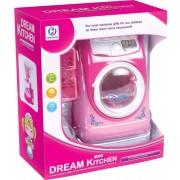 Jucarie de rol, masina de spalat de jucarie,Mini Dream Kitchen, cu lumini si sunete, Roz