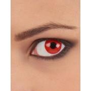 Lentillas fantasia ojo rojo 1 año adulto Única
