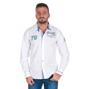 Giorgio Di Mare Worked Long Sleeved Shirt Off White GI5974192