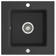 KIZZ chiuveta granit cu o cuva 50x50 cm grafit