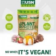 USN Green 100% Plant Protein Vegán Vegan Növényi fehérjekeverék 900g - Vegánoknak és Vegetariánusoknak is Borsó, rizs, Kenderfehérje ízesített