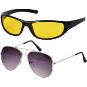 Freny Exim Aviator Sunglasses(Violet, Yellow)