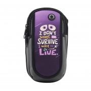 Louiwill World33® Impermeable A Prueba De Agua Teléfono Móvil Brazalete Brazalete Bolsa De Almacenamiento De Deportes Al Aire Libre Conveniente Para 5-6 Pulgadas De Teléfono
