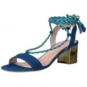 kate spade new york Women's Manor Heeled Sandal, Cobalt Blue, 9 M US