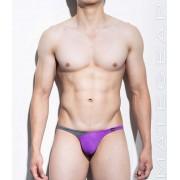 Mategear Nan Song Tapered Sides V Front Series IV Translucent Back Ultra Pouch Bikini Swimwear Purple 1130101