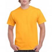Gildan Voordelig donkergeel T-shirt voor volwassenen