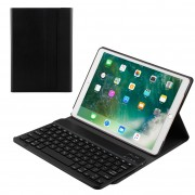 Detachable Wireless Bluetooth Keyboard Leather Case for iPad Pro 10.5-inch (2017) - Black