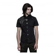 košile pánská PUNK RAVE - Poisonblack - WY-872 BK
