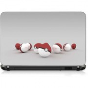 VI Collections RED WHITE GADGET pvc Laptop Decal 15.6
