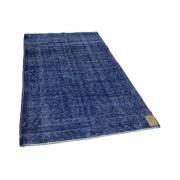 Rozenkelim vintage vloerkleed donkerblauw 250cm x 150cm (libelle week 52)