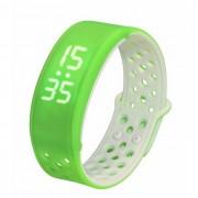 W9 inteligente banda de la muneca del deporte brazalete de la actividad de seguimiento podometro - verde