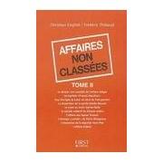 Affaires non classées Tome II - Frédéric English - Livre