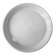 Műanyag lapos tányér, 21,5 cm (KHMU024)