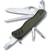 Victorinox Soldiers Knife Lockable Knife One Hand Opning Green Swiss Army Knife(Green)