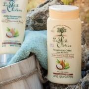 Le Petit Olivier Shampooing Crème Soin Nutrition - Huiles d'Olive, Karité, Argan - Cheveux Secs et Abîmés