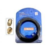 TP-Link TL-ANT24EC5S RP-SMA dugó - RP-SMA aljzat hosszabbító kábel (H-155 50ohm) 5m