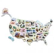 Wonderfoam Giant USA Photo Puzzle Map