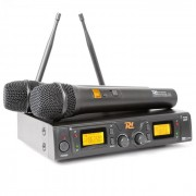 PD781 Doppio sistema microfono senza fili 8 canali UHF