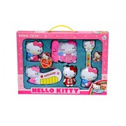 Children Kids 5 in 1 Musical & Sound Funny Hello Kitty Playset with Guitar Mobile and Telephone, Piano.