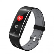 F10 0.96 inch Colorful Display Sleeping Heart Rate Monitor Bluetooth 4.0 Smart Wristband for Android - Grey