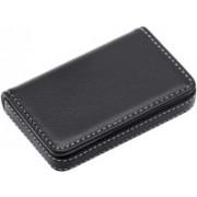 Flipkart SmartBuy Black Business Card Holder Luxury PU Leather Wallet Credit Cards ID Case/Holder for Men & Women 8 Card Holder(Set of 1, Black)