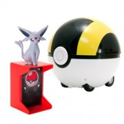 TOMY Pokemon Catch N Return Pokeball Espeon Action Figure and Ultra Ball