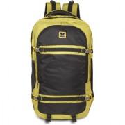HOT SHOT Lightweight Travel Hiking Rucksack Bag black and Yellow ART-0171