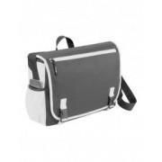 Geanta de Postas/Laptop Everestus PH 15.6 inch 600D poliester gri alb saculet de calatorie si eticheta bagaj incluse