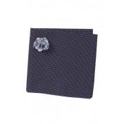 Original Penguin Seyne Dot Pocket Square Lapel Pin Set NAVY