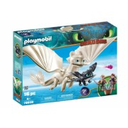 Playmobil Dragons - Light Fury pui de dragon si copii