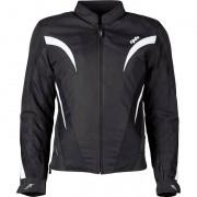 DXR Motorrad-Jacke Motorrad Schutz-Jacke DXR M8 Damen Textiljacke schwarz/weiß 40 weiß