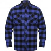 vidaXL Bélelt kockás férfi ing méret XL kék-fekete