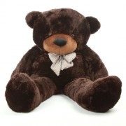 RT SOFT TOYS Extra Large Very Soft 5 Feet Lovable/Huggable/Fluffy/Spongy High Quality Teddy Bear with Neck Bow for Girlfriend/Birthday Gift/Boy/Girl/Valentine (152 CM,Chocolate Brown)
